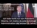Donald Trump bietet Friedensvertrag an Pressekonferenz Donald Trump Angela Merkel 27 04 2018