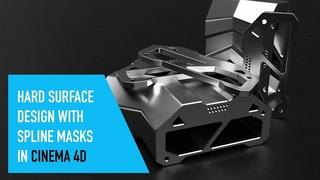 Hard surface design with Spline Mask in Cinema 4D