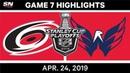 NHL Highlights Hurricanes vs Capitals Game 7 April 24 2019