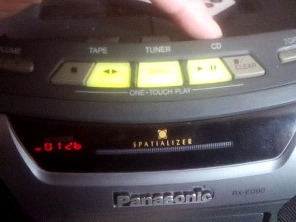 Panasonic RX-ED90 USB/SD/FM/BLUETOOTH Управление модулем с кнопок передней панели магнитолы.