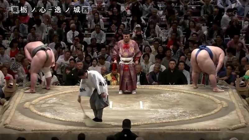 Tochinoshin vs Ichinojo Natsu 2018 Makuuchi Day 8