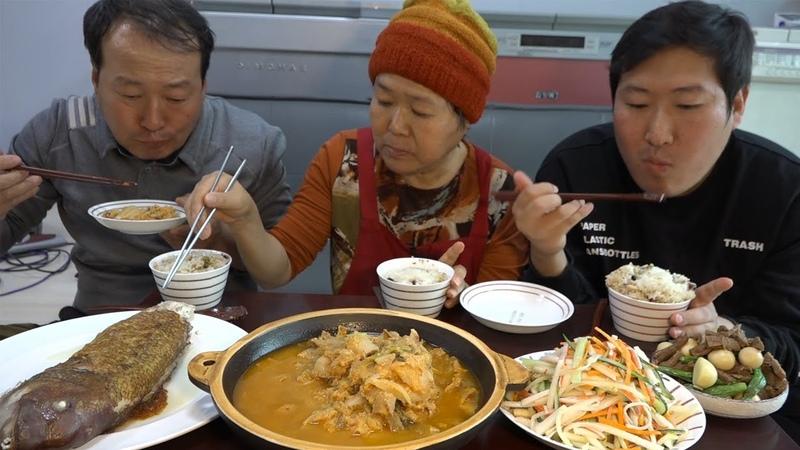 금손 어머니의 푸짐한 집밥 한상 [[비지찌개,옥돔구이,장조림,콩나물냉채]] 요4