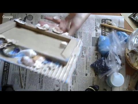 МК Создание рамки из картона (морская тема)