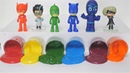 Pj Masks Toys Learn Colors with Colorful Beads and Cups Hand Painting