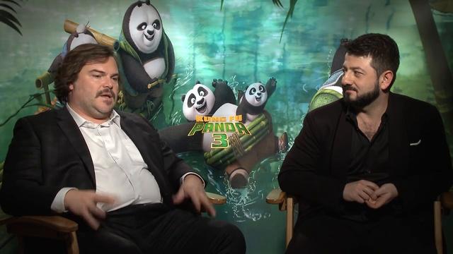 Кунг-фу Панда 3 _ Интервью с Михаилом Галустяном и Джеком Блэком _ HD