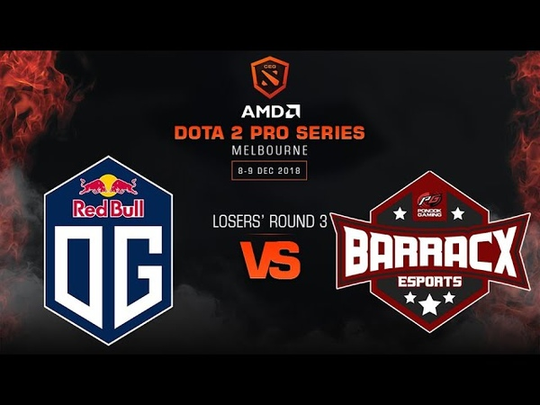 OG vs PG.BarracX - AMD Dota 2 Pro League: Losers' Round 3 w/ GoDz, MLP