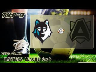 Волки v/s альянс (3 тур). football masters league 6x6. full hd. 2019.06.02