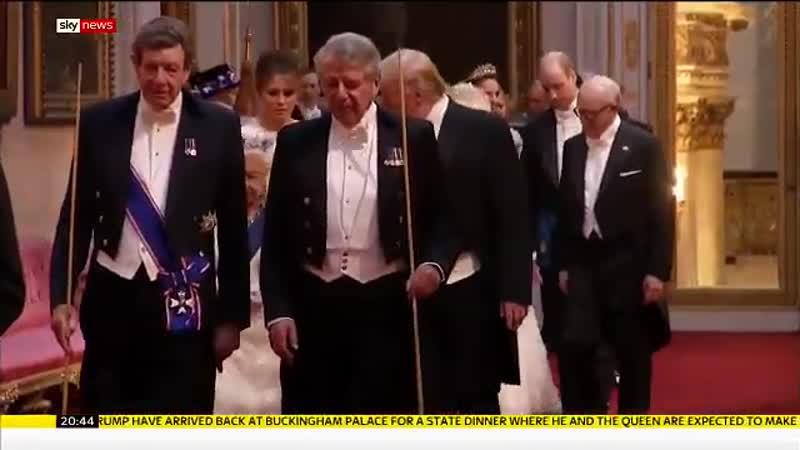 Члены королевской семьи прибывают на торжественный прием в честь президентской четы Америки 03.06.2019
