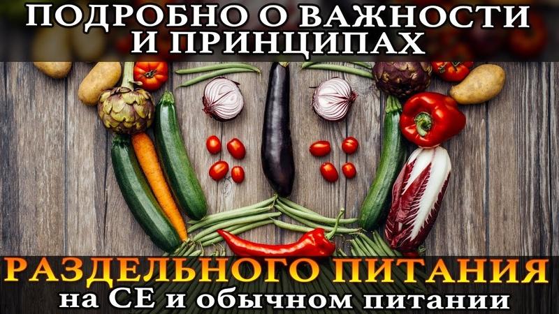 🍏 ОСОБО ВАЖНО для ЗОЖ: раздельное питание на сыроедении и обыч.питании (совместимость продуктов)