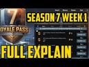Season7 royal pass missions week1 full DETAILS || complete easily pubg mobile 18 may