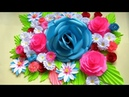 DIY WALL DECOR IDEAS WITH PAPER Flower Bouquet Paper Crafts Handmade Craft Mother's Day y4w2