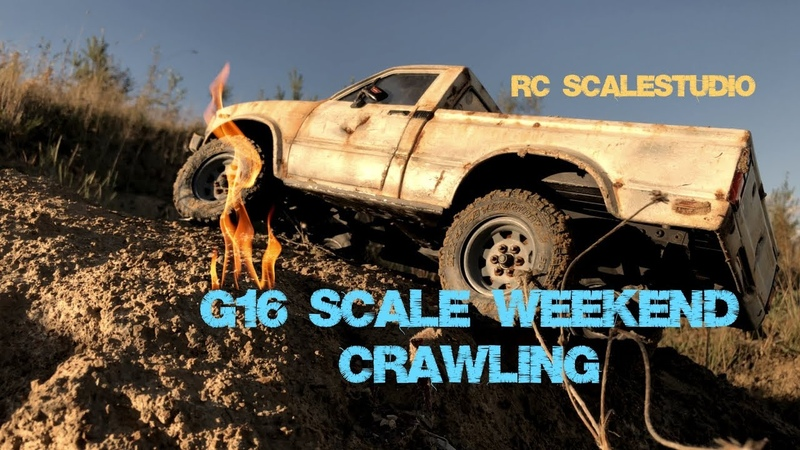 Rcscalestudio 4x4 G16scale weekend with rc4wd Toyotas and Jeep