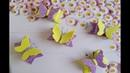 Бабочки из глиттерного фоамирана канзаши мк /Butterflies by foamiran/Mariposas de foamiran