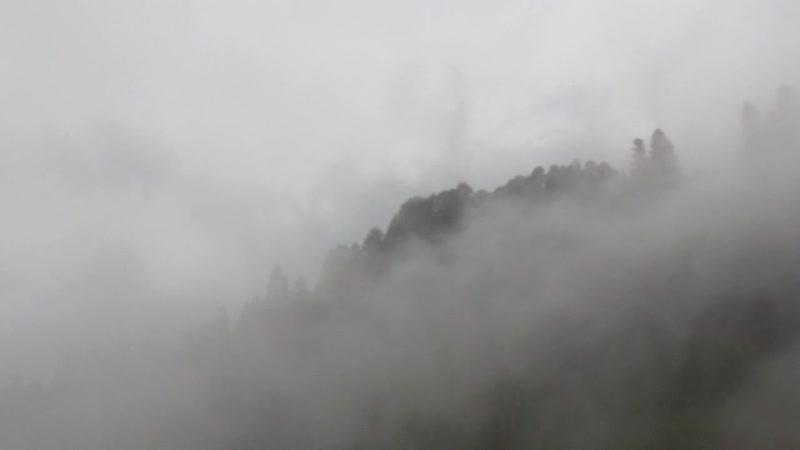 Сочи 17.08.18. Канатка. Туман в горах. Видео Марины Жуковой