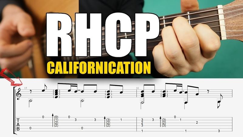 RHCP - Califronication Tab Playthrough Fingerstyle Guitar Tutorial