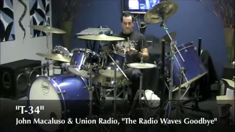 Drummer John Macaluso Performs T-34 from his solo album, The Radio Waves Goodbye