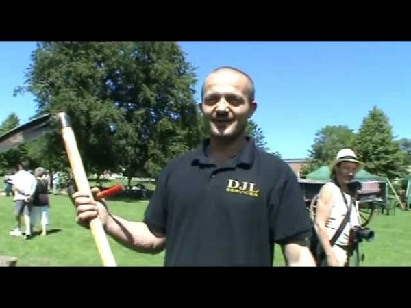 Albanian Scythesman 'Ded' wins UK scything competition