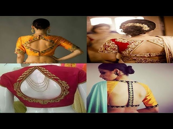 Latest Blouse Back Neck Designs For Silk Sarees
