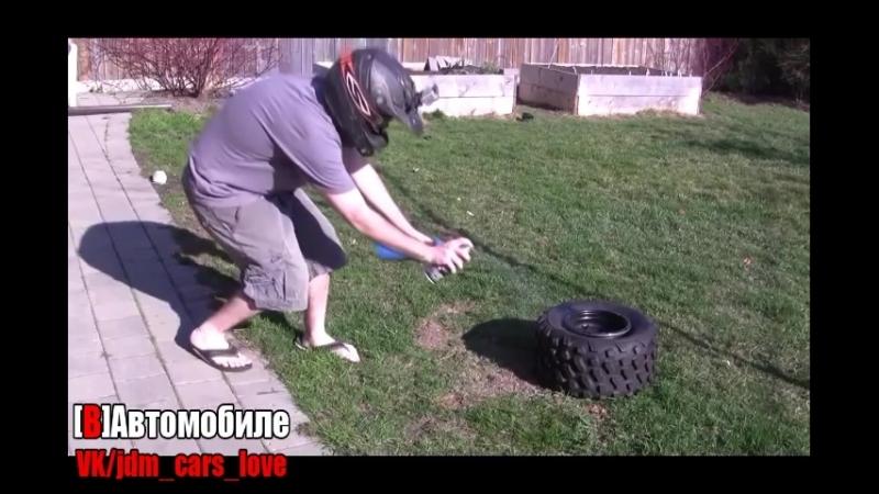 Как накачать колесо если оно полностью спущено 2