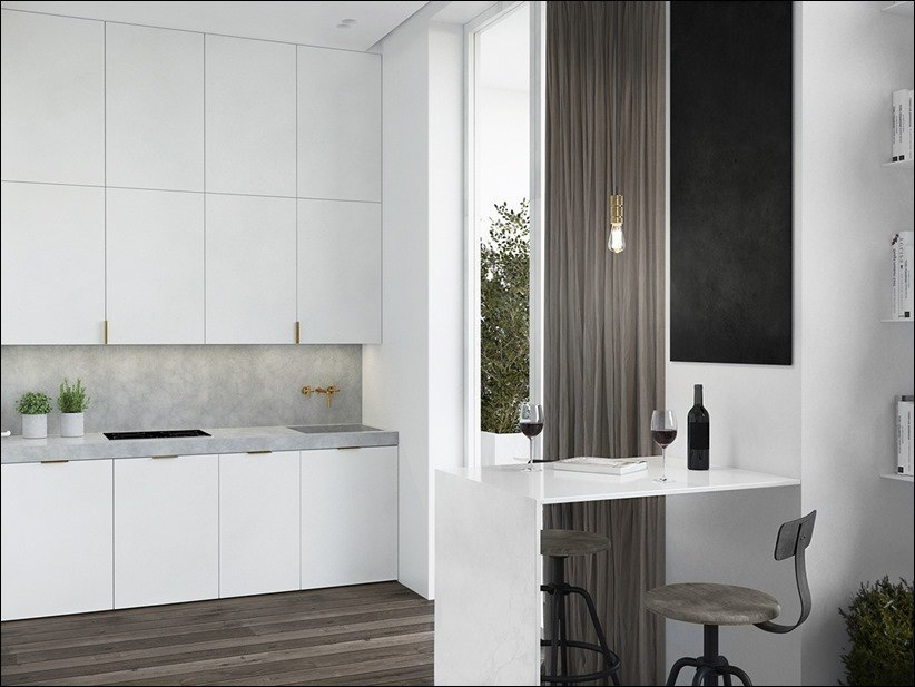 Дизайн квартиры-студии.