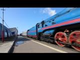 Прибытие ретро-поезда Сев. ж.д. на паровой тяге в Микунь 18.08.18.