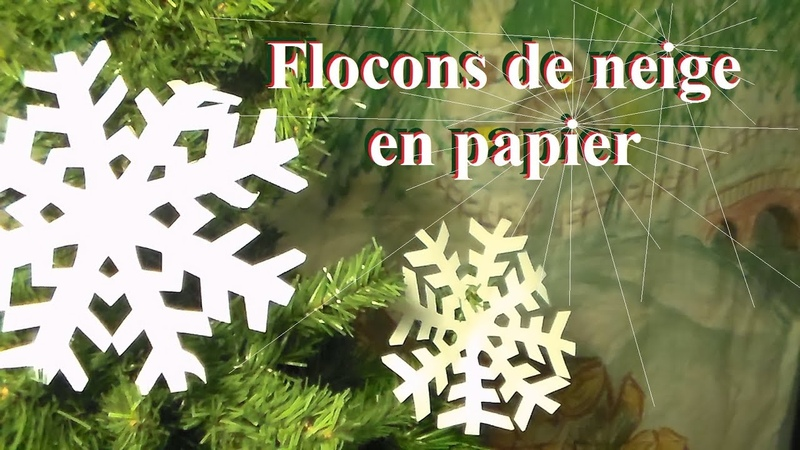 Fabriquer un flocon de neige en papier Bricolage de Noël avec les enfants
