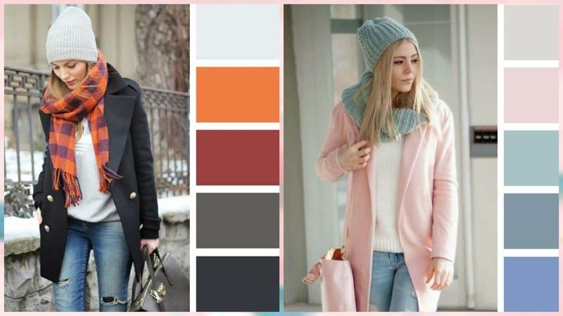 Сочетания цветов для шапок и шарфов
