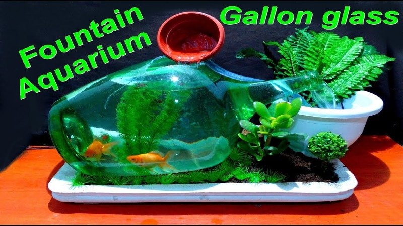 From Broken Gallon glass make a beautiful Fountain Aquarium