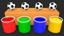 Learn Colors with Surprise Soccer Balls h - Magic Liquids for Children Toddlers