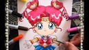 Cómo Dibujar a Chibi Chibi Perfecta paso a paso How To Draw Sailor Moon Speed Draw| CarlosNaranjoTV