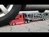 EXPERIMENT CAR VS CAR TOYS Awesome Car Transporter Truck