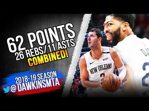 Anthony Davis Nikola Mirotic 62 Pts 2018.10.17 vs Rockets - 32-16-8 For AD! | FreeDawkins