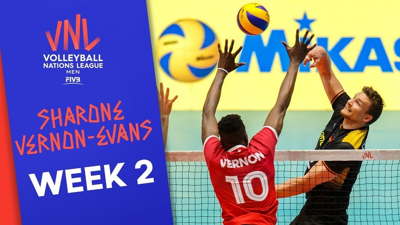 Sharone Vernon-Evans (CAN) leads the scoreboard | VNL2019 Week 2 | Volleyball Nations League 2019
