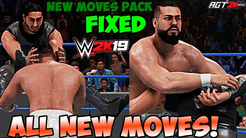 AGT - WWE 2K19 | NEW MOVES PACK DLC (WITHOUT GLITCHES/БЕЗ ГЛИТЧЕЙ) - ALL New Moves Taunts!
