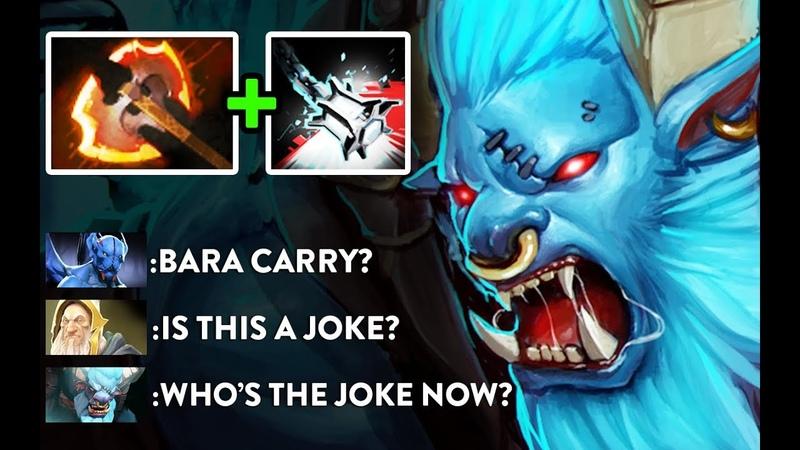 WTF Bara Carry Battlefury Bash Cleave New Meta, Gameplay by Top Immortal Rank EU Dota 2