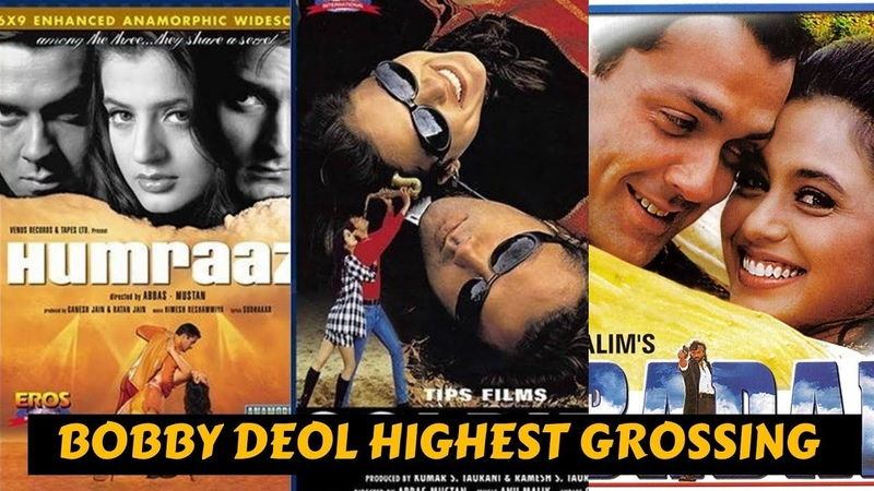 10 Highest Grossing Movies of Bobby Deol with Box Office Collection