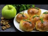 Сладкие булочки с яблоками