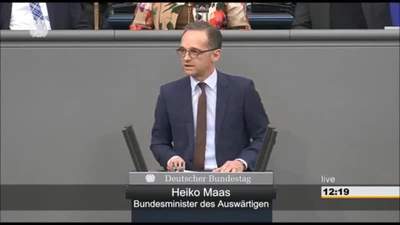 Migrationspakt entlarvt- Petr Bystron - Gottfried Curio AfD reagieren auf Heiko Maas 1
