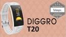 Diggro T20 Un bracelet connecté complet et en couleur