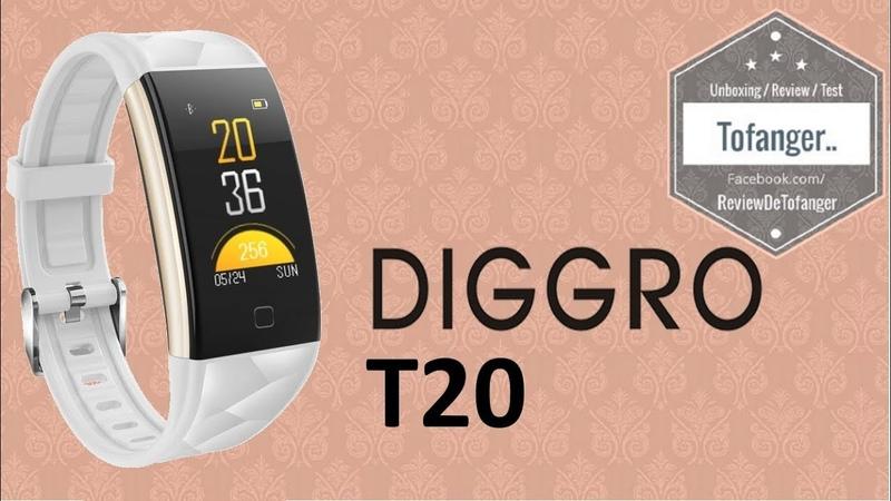 Diggro T20 : Un bracelet connecté complet et en couleur