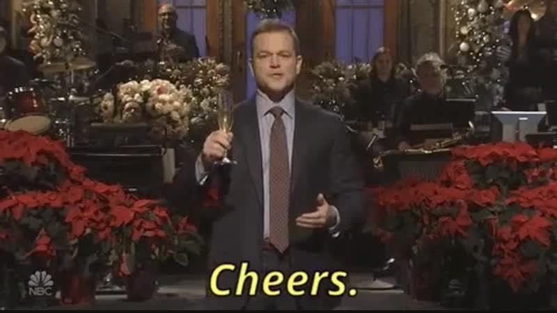 Cheers - Matt Damon hosts our last show of 2018! - SNL