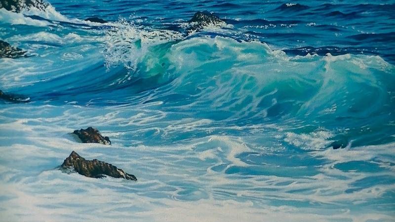 Pintura al óleo Marina
