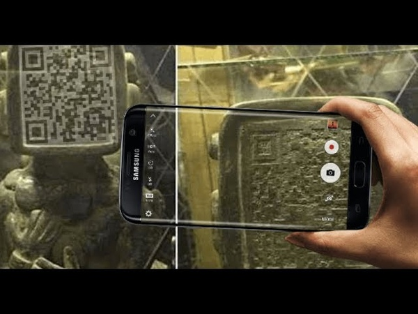 Did Ancient Mayans Send A Message Through QR Code Face on Statue?