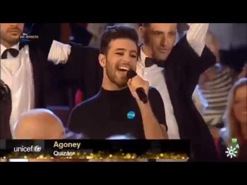 Agoney canta Quizás en la Gala de Unicef en Sevilla (Canal Sur) 14-11-18