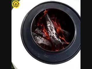 Очаг из барабана от стиральной машинки