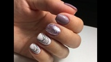 Экспресс-дизайн ногтей с паутинкой на Новый год! Супер быстрый стильный маникюр