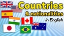Countries and nationalities in English - Learn demonyms in English