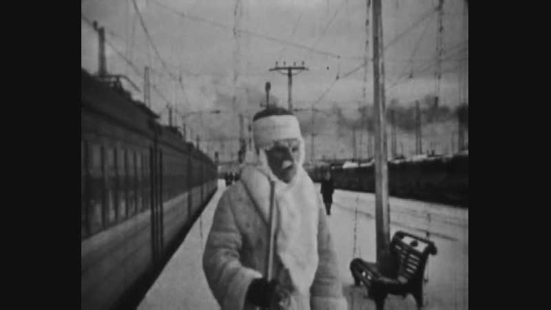 Приезд Деда мороза во Мгу. Съёмка 1974 года. Для новогоднего праздника в районной школе.