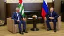 Состоялась встреча Владимира Путина спрезидентом Абхазии Раулем Хаджимбой Новости Первый канал