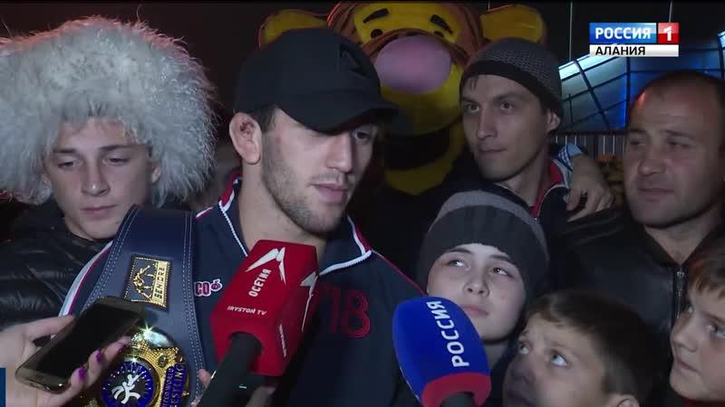 Чемпион мира по вольной борьбе Заурбек Сидаков вернулся в Северную Осетию